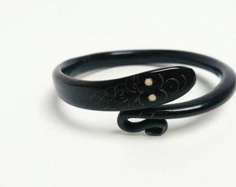 Victorian horn snake bracelet