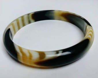 Vintage layered Lea Stein style bracelet bangle cellulose acetate lucite