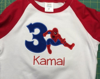 Spider Birthday Shirt