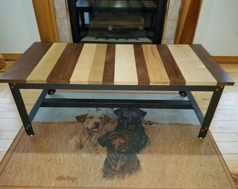 Industrial angle iron coffee table