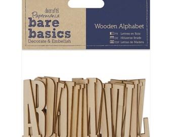 Bare Basics Full Wooden Alphabet