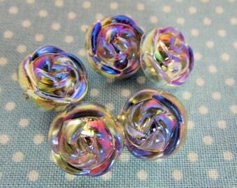 Iridescent Rose Buttons
