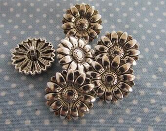 Tibetan Silver Sunflower Buttons