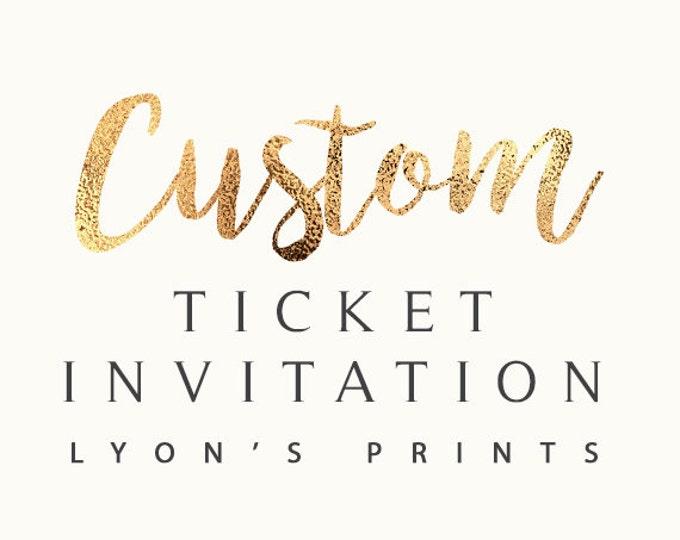 Custom Invitation Design, VIP pass, ticket Invitation _ Printable/Digital Invitation_baby shower_birthday party_wedding_ Birthday invite,