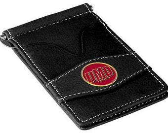 Minnesota Duluth Bulldogs Black Leather Wallet Card Holder