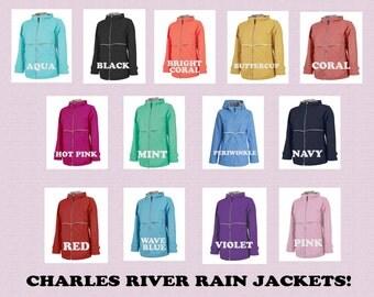 Free Shipping! Charles River Rain Jackets Monogrammed