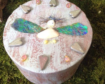 Gift Box Trinket Box Fairy Wish Box Unique Handmade Gift Box Gift Ideas for Kids of all ages Fairy Trinket Box Sale Fairy Themed Gift Box