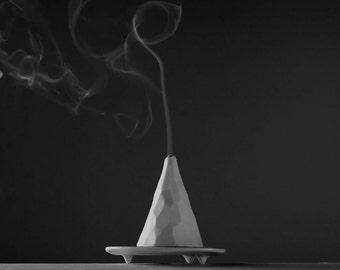 mountain shape incense holder, incense burner, incense cone burner, modern home decor, volcano incense burner, mountain art, spiritual gift