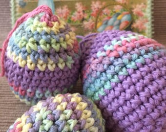 Crocheted Easter Eggs - Set of Three