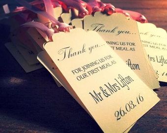 20 First meal tags for weddings