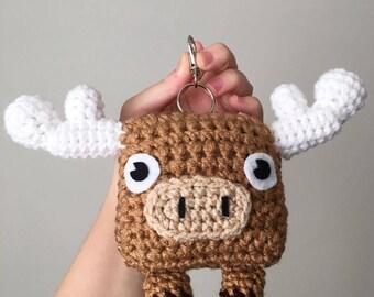Crochet Moose Plush Keychain