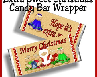 Extra Sweet Christmas Candy Bar Wrapper Printable