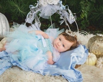 Princess Tutu Dress Inspired * Baby Tutu * Toddler Tutu * Cinderella Inspired Tutu dress little girl tutu dress up - cinderella party dress