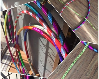 Custom hula hoops various sizes and colors