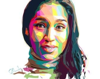 Personal portrait · Gift idea · WPAP · Pop art · Digital portrait