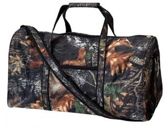 Wood Camouflage Duffel Bag/ Mens Duffle Bag/ Boys Duffle Bag