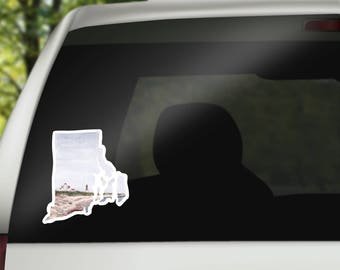 Rhode Island Vinyl Sticker -  Rhode Island Decal - Rhode Island Car Decal - RV sticker - Cool Laptop Sticker - MacBook Sticker - RI decal