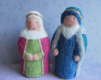 Nedlefelted woolen Queen and King