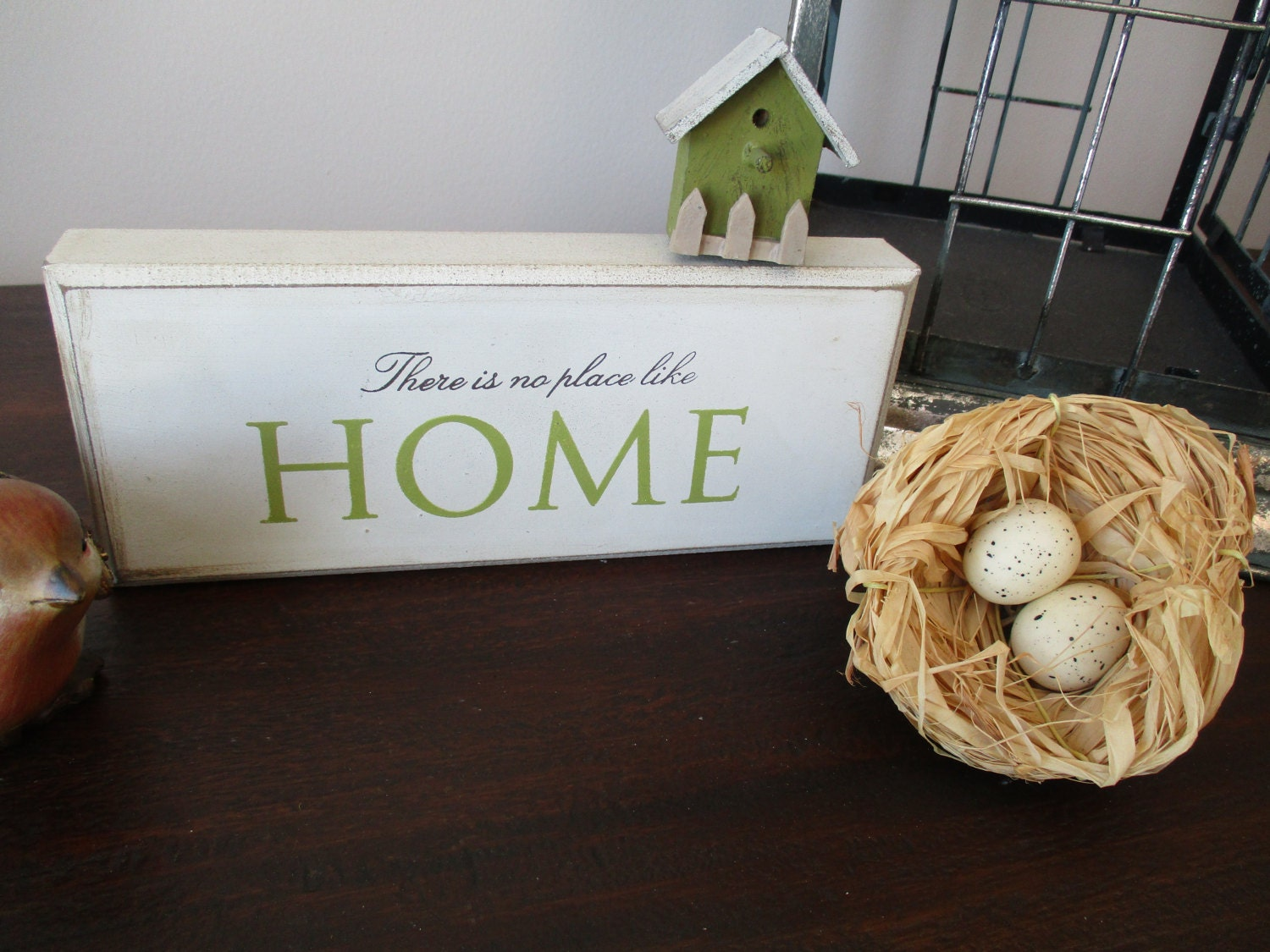 Bird nest with eggs floral pick natural raffia primitive for Rustic home decor suppliers