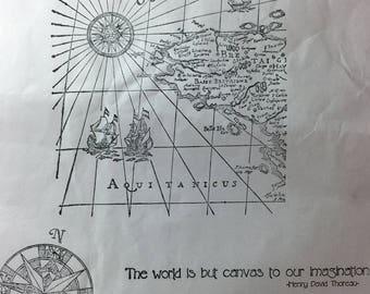 Map Stamp Set - #124