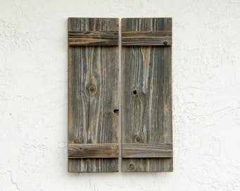 Rustic Shutters. Set of 2. Wooden Door Shutters. Rustic Barn Doors. Rustic Wooden Decor. Farmhouse Decor. Rustic Window Shutters. SM