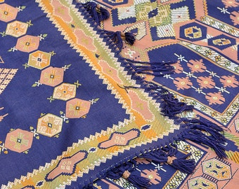Art Deco / Spanish Revival 1920's Tapestry Dining Room Table Cover. Beautiful look much like the spanish / mexican tile of the time.