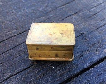 Vintage Volupte USA Brass Pill Box