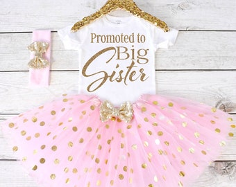 Promoted to Big Sister. Pregnancy Announcement Shirt. Big Sister Announcement. Promoted to Big. Big Sister Top. S24. PGA (LIGHTPINK)