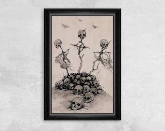 Conquest - Skulls Print