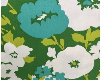 Vintage Mid Century Fabric, Retro Bloomcraft Original Screen Printed Fabric, Mid Century  Mod Fabric, Vintage Flower Patterned Fabric.