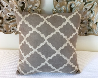 Hand Loomed Block Print Cushion