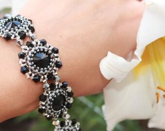 Bracelet for her stackable bracelet grey bracelet woman bead bracelet jewelry bracelet bead jewelry bracelet for woman handmade bracelet