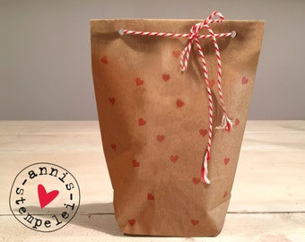 5 gift bags to the filling itself, heart