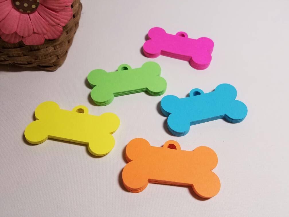 Mini dog bone tag die cuts kids crafts craft projects for Dog bone ornaments craft