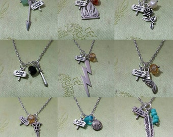 Demigod character necklaces (options)