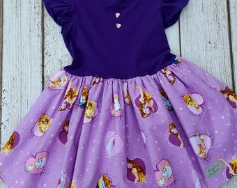 Beauty and the Beast knit top flutter dress 5T