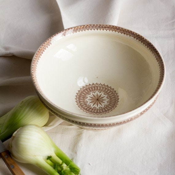 Compass Rose Serving Bowl