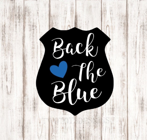 Back The Blue Police Decal Police Wife Yeti Rtic