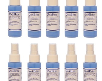 12 Pack 4 oz Quikbrite Non-Toxic Ammonia Free Cleaner Metal Jewelry Stone Gemstone Debris Grime Removal Spray Bottles