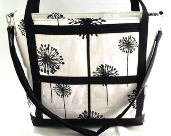 Consultant Display Tote bag. .direct sales reps clear window pocket catalogue bag..Advertise your business bag. .shoulder crossbody bag