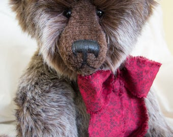 "Arlo 23"" Faux Fur Artist Teddy Bear by Patricia Bruce"