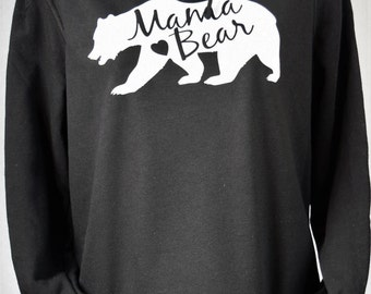 Mama Bear Hooded Pullover Dress