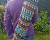 Unisex Colourful Stripe Yoga Mat BagHolder Pilates Yogi Meditation Pink Blue Red Black Stripe Design Hippie Boho Festival