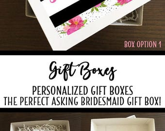 Bridesmaid Gift Box, Gift Box, Bridesmaid Proposal, Bridesmaid Box, Maid of Honor Gift, Wedding Gift Box, be my Bridesmaid, Keepsake Box