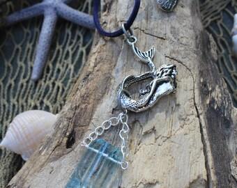Silver Mermaid Crystal Rearview Mirror Accessory - Car Jewelry - Car Accessory - Mermaids - Mermaid Gifts - Mermaid Soul - Mermaid Life