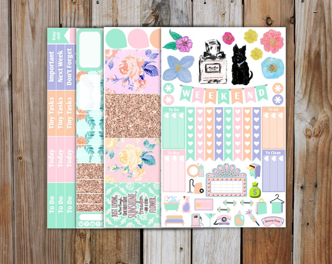 Spring Trend 2017 Planner Sticker MINI Kit | Spring Planner Stickers Kit for use with ERIN CONDREN Life Planner
