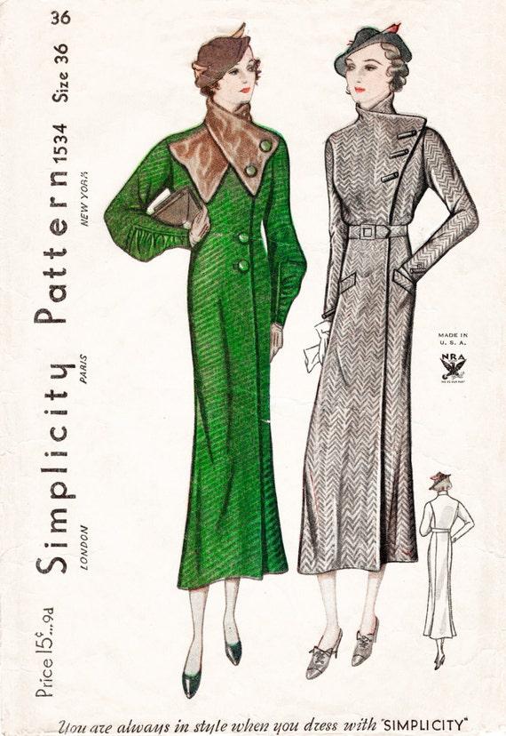 patron couture 1930