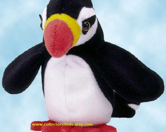"12 New PUFFER The PUFFIN,  Ty Beanie Babies 4181,  approx. 6"" h, One DOZEN, Mint Never Displayed"