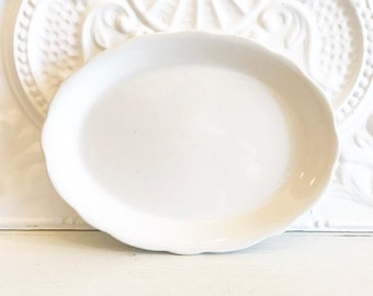 White Ironstone Platter Farmhouse Chic Platter