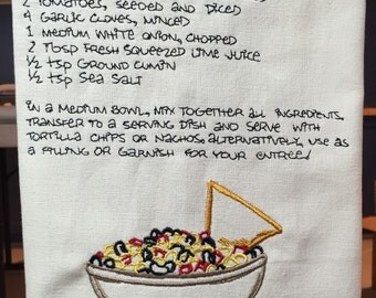 Recipe Towel: Black Bean Corn Salsa